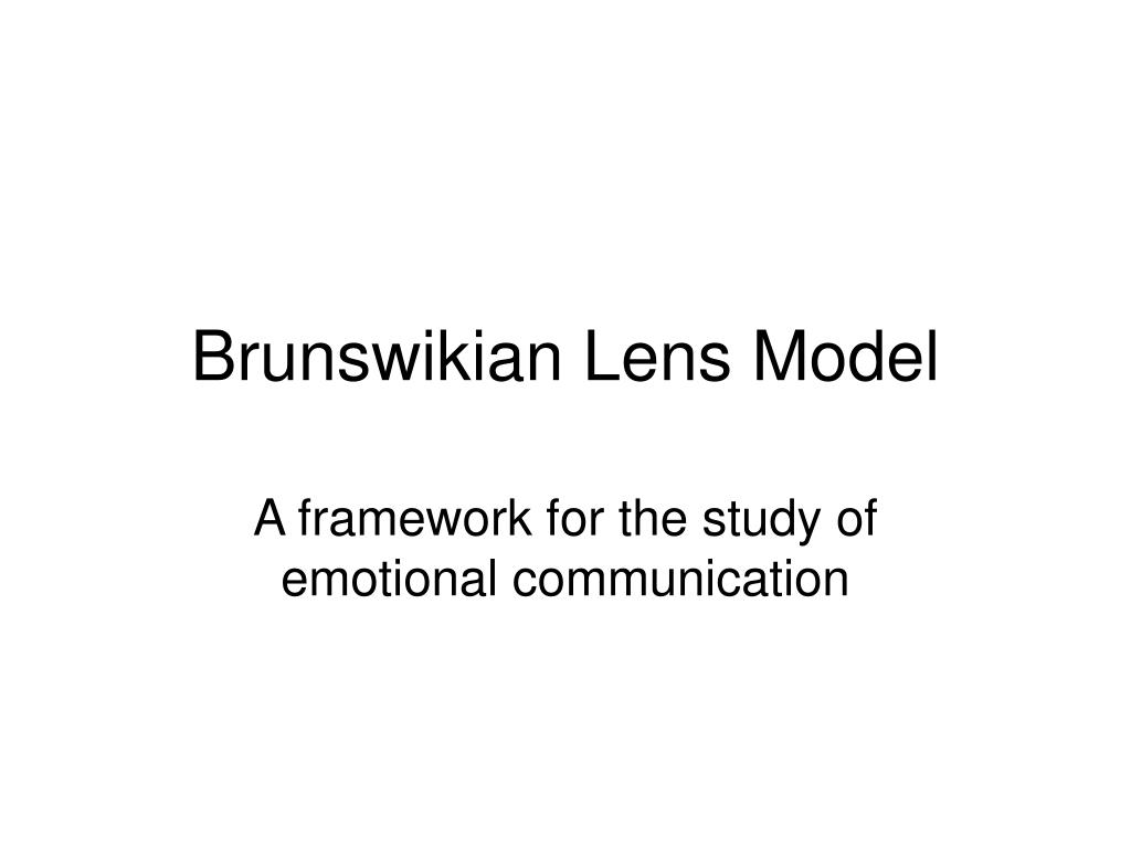 brunswikian lens model l.