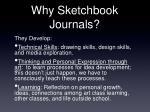 why sketchbook journals