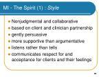 mi the spirit 1 style