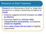 research on brief treatment
