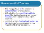 research on brief treatment54