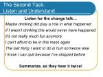 the second task listen and understand34