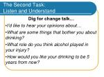 the second task listen and understand35