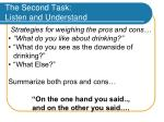 the second task listen and understand37