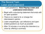 the second task listen and understand40