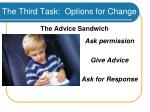 the third task options for change46