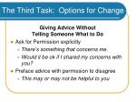 the third task options for change48