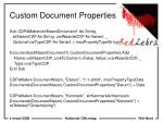 custom document properties