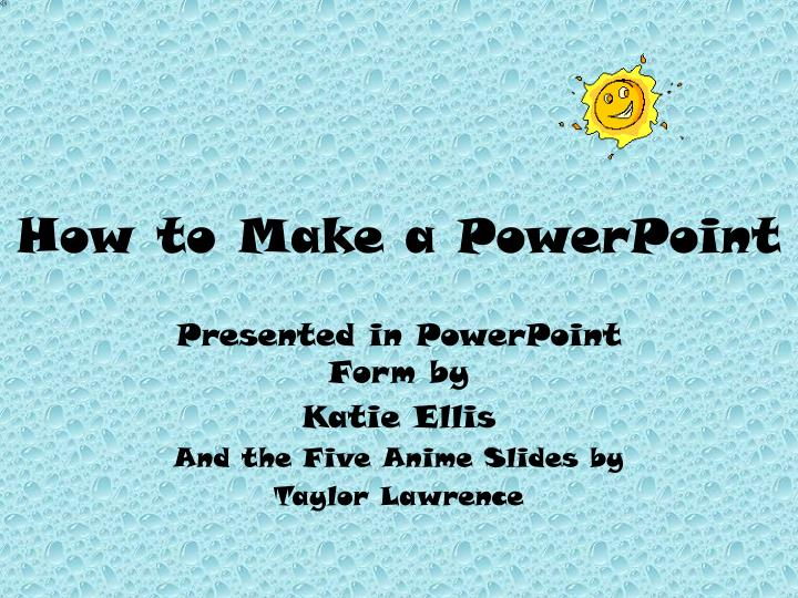 how to make a powerpoint n.