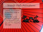 sounds with animations
