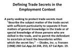 defining trade secrets in the employment context26