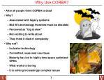 why use corba
