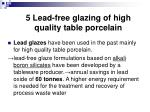5 lead free glazing of high quality table porcelain
