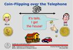 coin flipping over the telephone