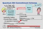 quantum bit commitment scheme