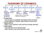 taxonomy of ceramics