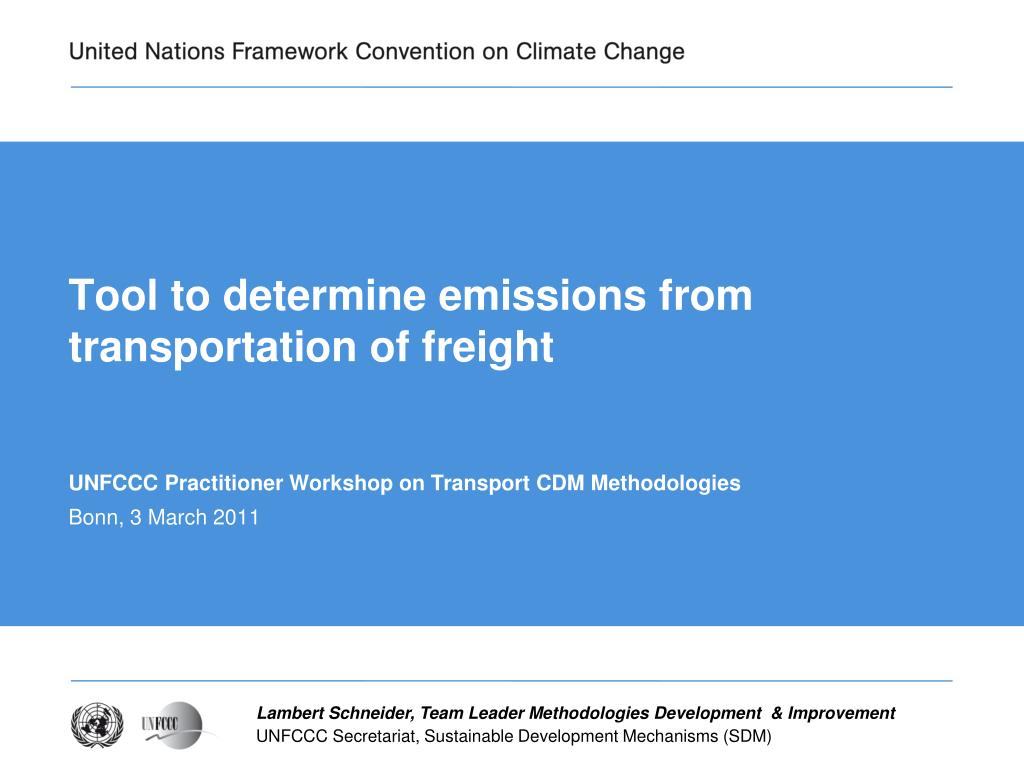 tool to determine emissions from transportation of freight l.