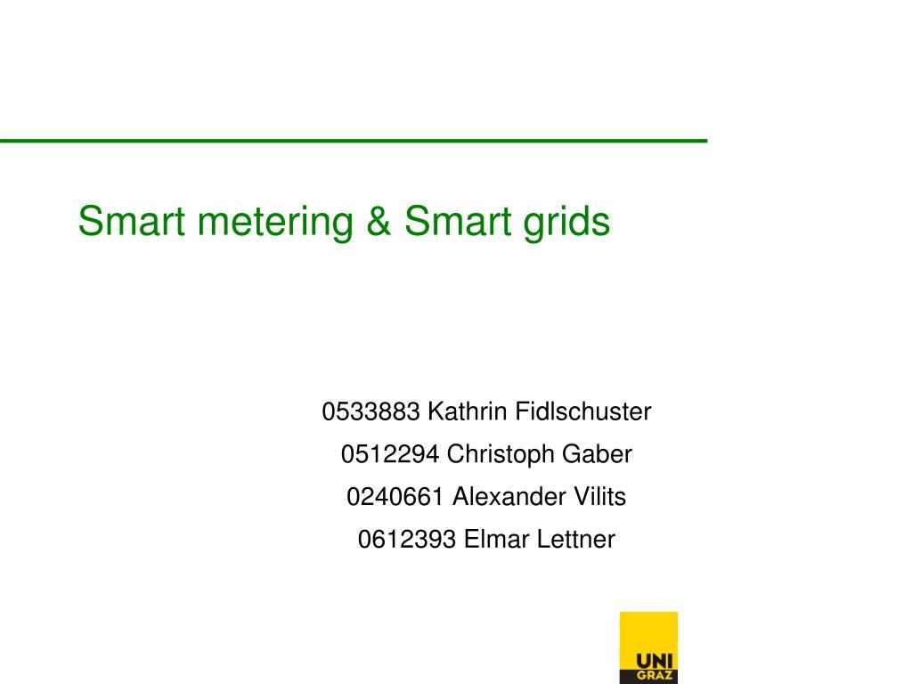 smart metering smart grids l.