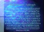 the structural approach17