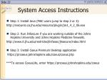 system access instructions