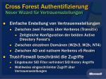 cross forest authentifizierung neuer wizard f r vertrauensstellungen