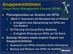 gruppenrichtlinien group policy management console gpmc16