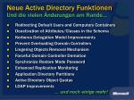 neue active directory funktionen und die vielen nderungen am rande
