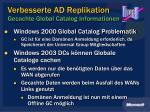 verbesserte ad replikation gecachte global catalog informationen