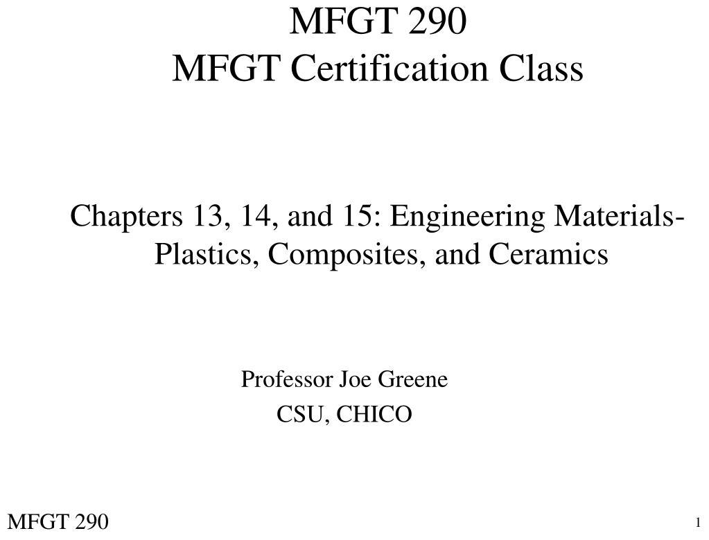 mfgt 290 mfgt certification class l.