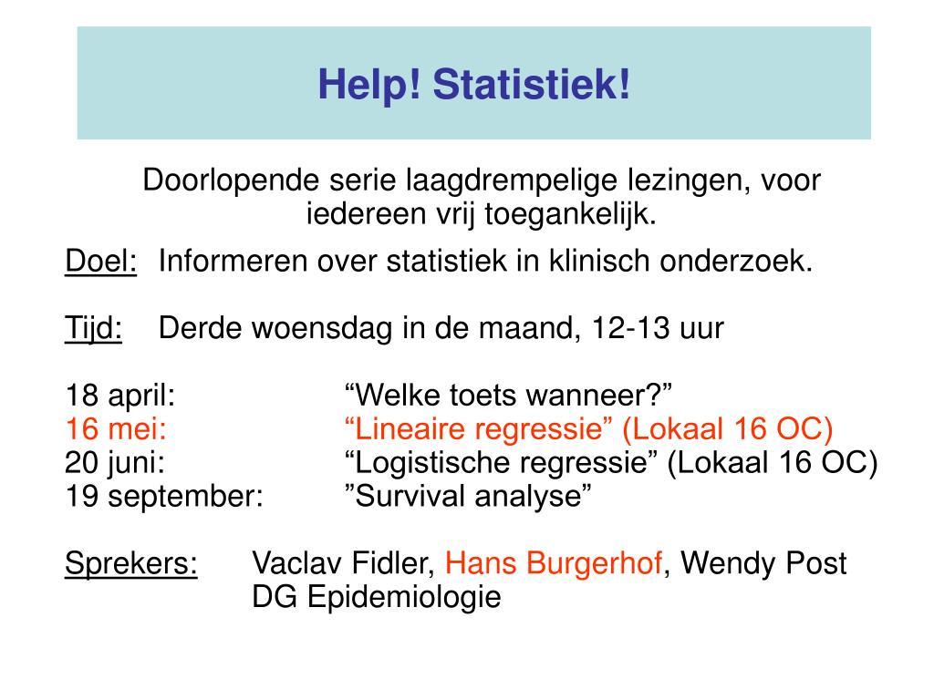help statistiek l.