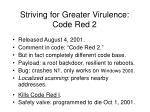striving for greater virulence code red 2