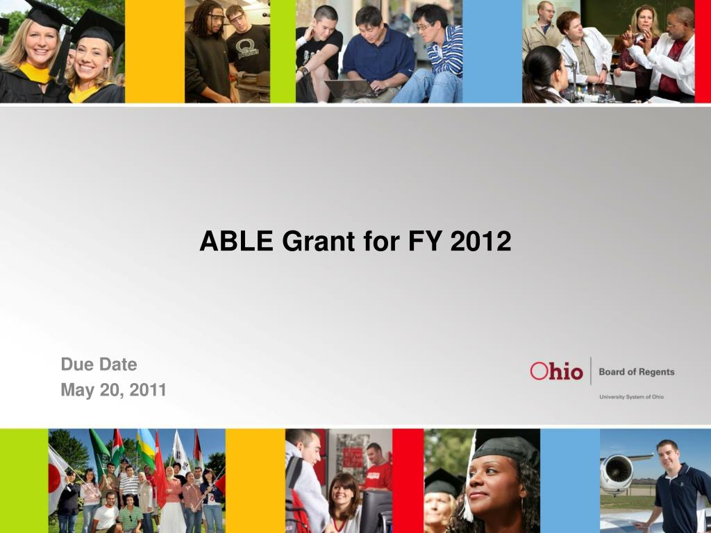 able grant for fy 2012 l.