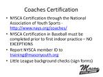 coaches certification