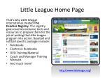 little league home page