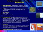 foam glass crystal materials with nano and microstructures