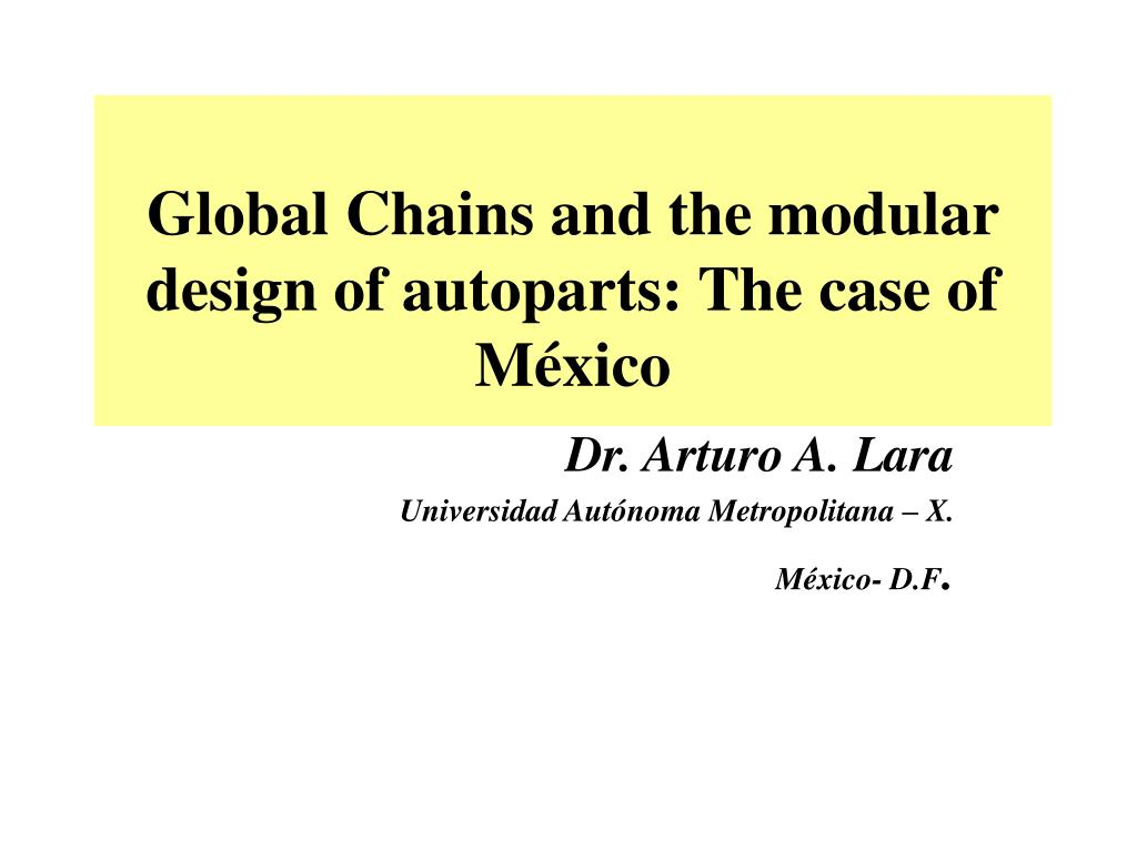 global chains and the modular design of autoparts the case of m xico l.