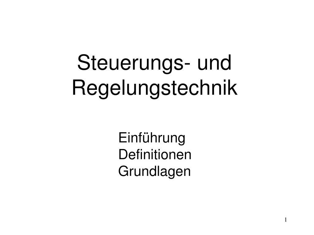 steuerungs und regelungstechnik l.