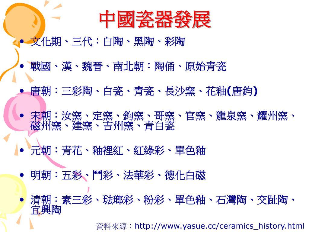 中國瓷器發展
