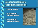 architectural objects structures fragments