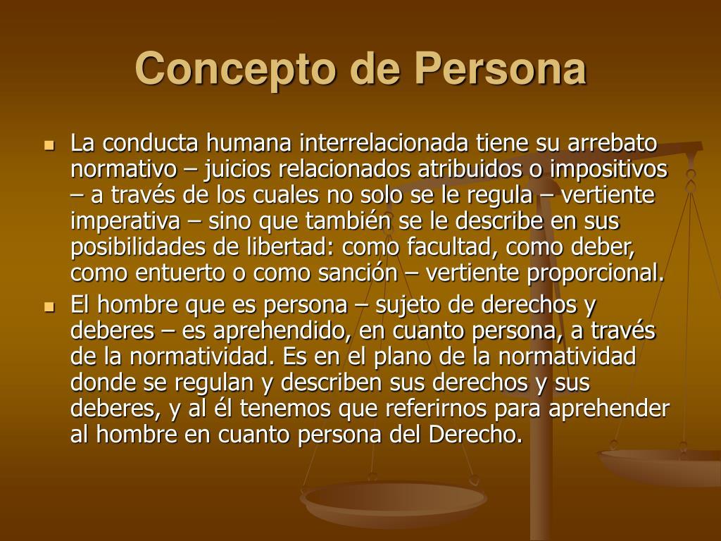 Concepto de Persona