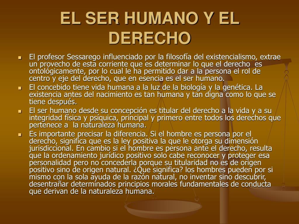 EL SER HUMANO Y EL DERECHO