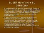 el ser humano y el derecho24
