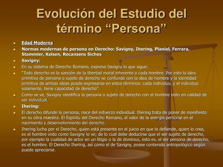 Evoluci n del estudio del t rmino persona3
