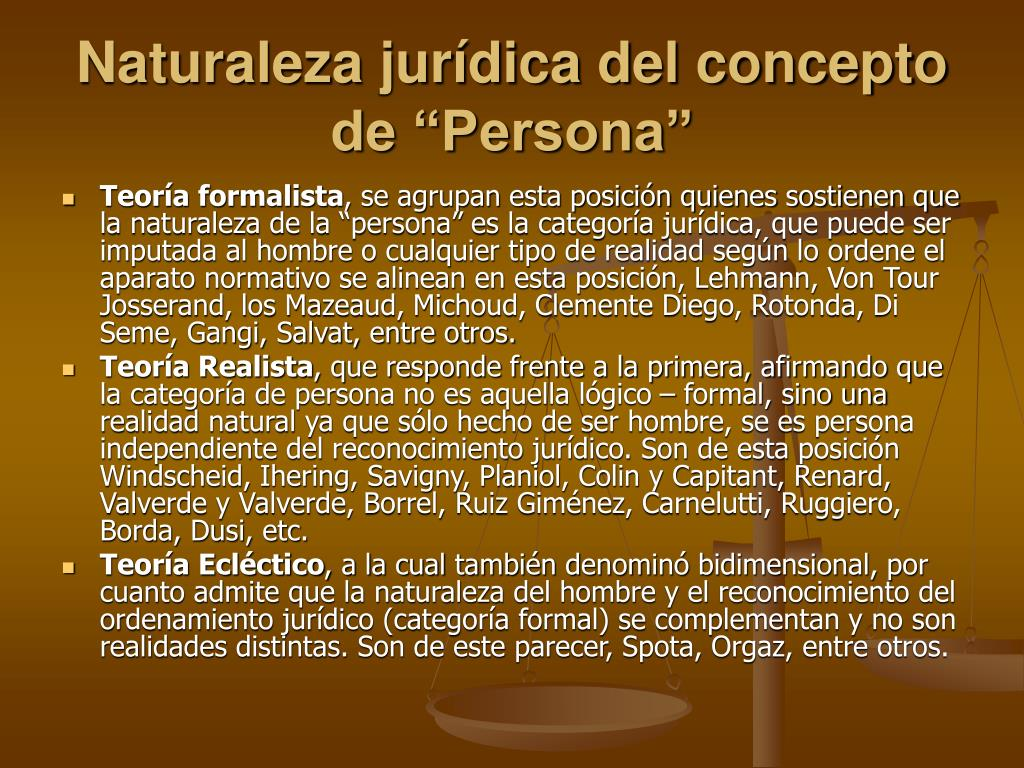 """Naturaleza jurídica del concepto de """"Persona"""""""