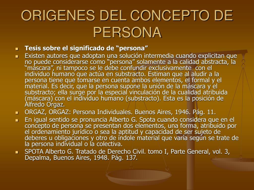 ORIGENES DEL CONCEPTO DE PERSONA