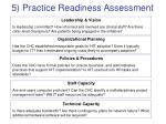 5 practice readiness assessment