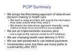 pcip summary