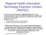 regional health information technology extension centers rhitec