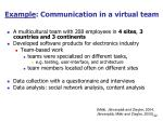 example communication in a virtual team