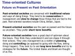 future vs present vs past orientation